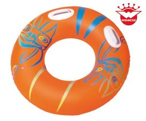 XXL Schwimmring Donut Sessel mit Haltegriffen Luftmatratze Wasserspielzeu<wbr/>g Pool