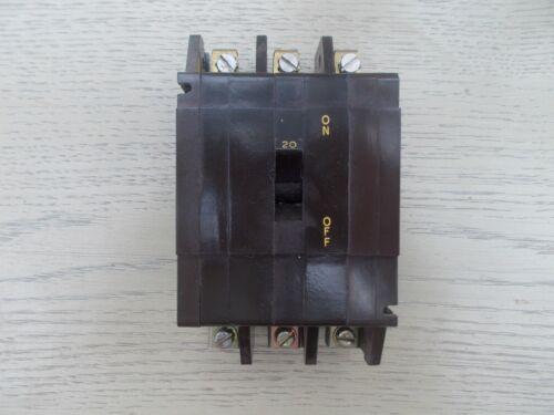 Type CRABTREE C50 20 A Trois Pôle Disjoncteur 20 Amp TYPE 2-Cat M4.5 BS3871