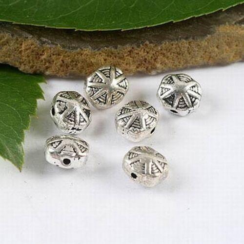 25pcs Tibetan silver lotus leaf spacer beads h1555