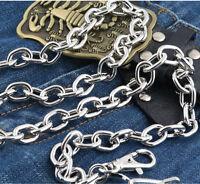 Basic Simple Strong Biker Trucker Key Jean Wallet Chain (29.5) Silver Cs15