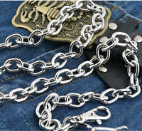 Basic Simple Strong Biker Trucker Key Jean Wallet Chain (29.5) Silver Cs15