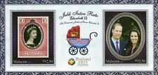 Malaysia 2013 Queen Elizabeth II/ Royal Visit Prince William THAILAND O/P M/S