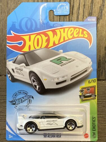 '90 Acura NSX White Kroger Exclusive 2020 Hot Wheels Car P Case