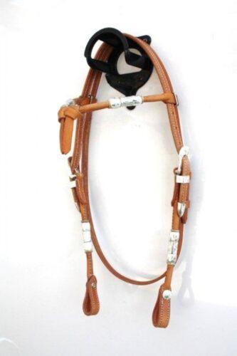 EE Tack Showkopfstück aus Herman Oak Leather Western Trense