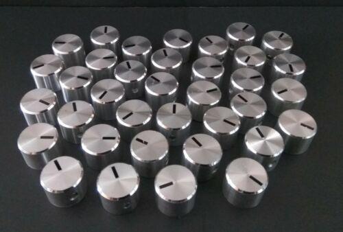 1x Aluminium Pommeau Potentiomètre Régulateur Bouton 6 mm axe Silver Knob Radio