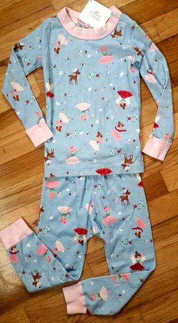 NWT Hanna Andersson LONG JOHN Pajamas FAIRY BALLET DEER BALLERINA Size US 12