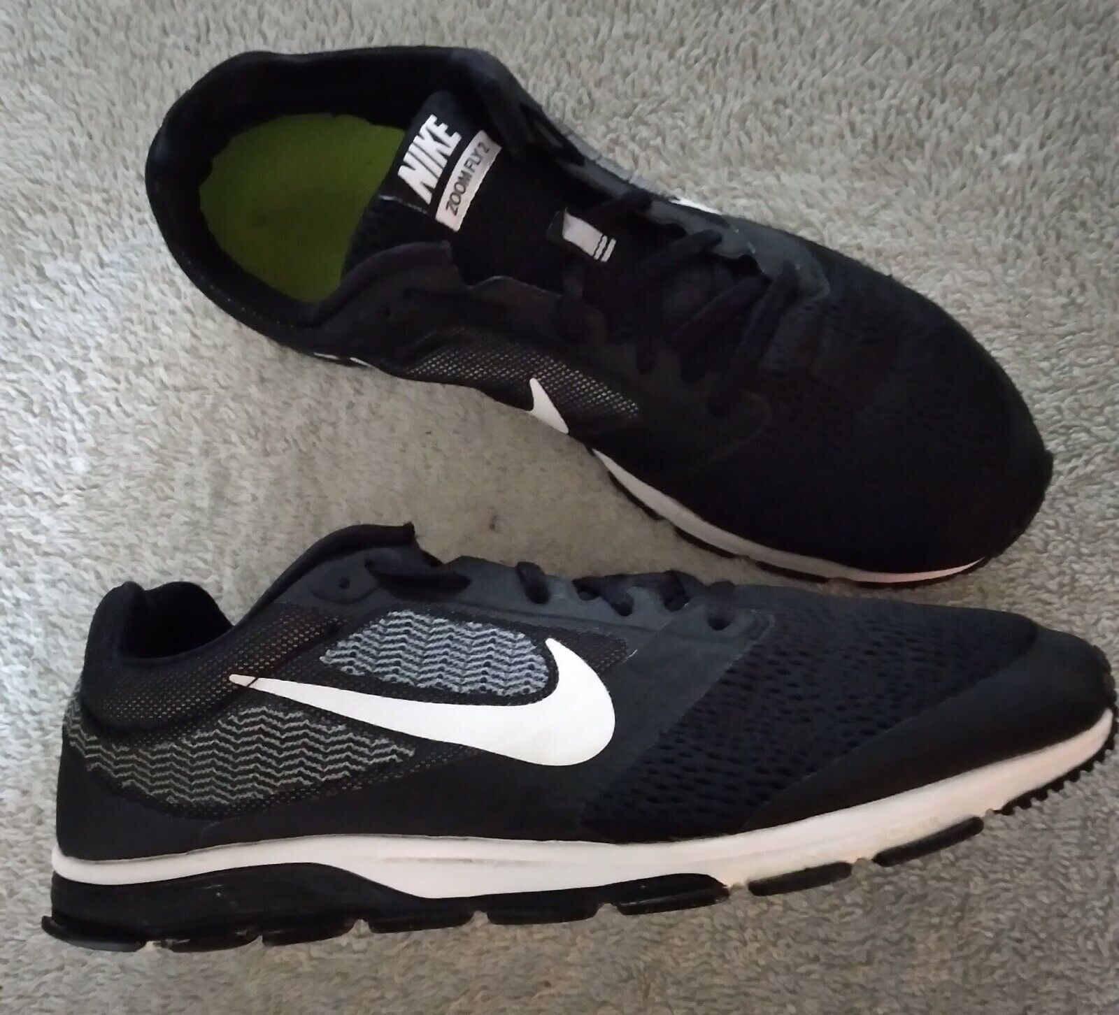 Size 13 - Nike Air Zoom Fly 2 Black for sale online | eBay