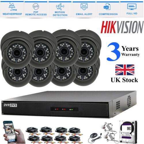 Kamera Heim Sicherheits Hikvision CCTV Set HD Tvi 1080P DVR 2.4MP Gleitsicht