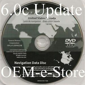 Details about Fits Only 2007 2008 2009 Cadillac SRX Navigation DVD Map U S  Canada 6 0c Update