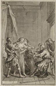 GRAVELOT(?),'Les Monstres! voilà sa récompense', Franz. Buchillust., 1767, Rad