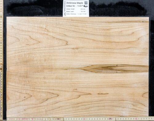 Tonewood Ambrosia Maple Bookmatched 11 mm Tonholz Topset Guitar Ahorn Droptop