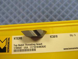 New Kennametal Insert NTB3RB KC5010 LOT OF 5 INSERTS