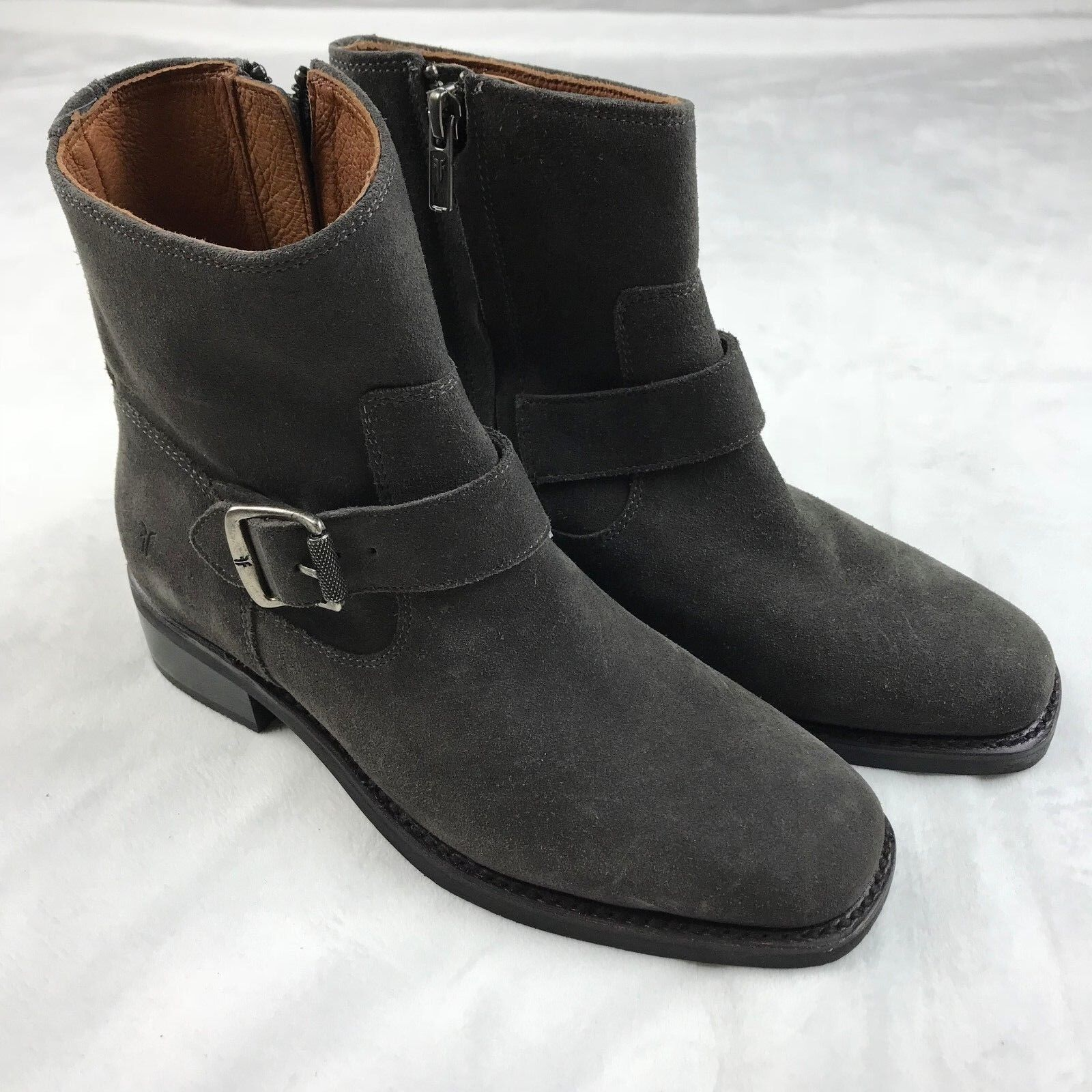 Frye Hannah Engineer Suede Boot in Smoke Size 6.5 NEW  348