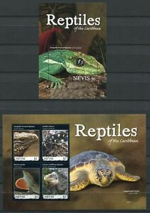 FidèLe Nevis 2011 Reptiles Reptiles Serpent Tortue Iguana Tamponné Neuf Sans Charnière-afficher Le Titre D'origine GuéRir La Toux Et Faciliter L'Expectoration Et Soulager L'Enrouement
