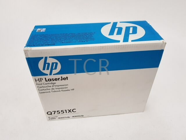 HP Genuine 51X Q7551XC Black Toner Cartridge to suit HP P3005 M3027mfp