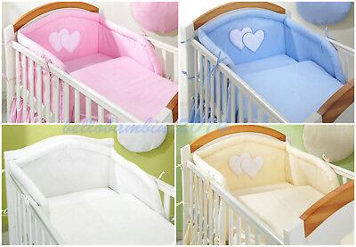 4 Teilig Baby Bettwäsche Setbumperpilowcasebettbezug Für Babybett