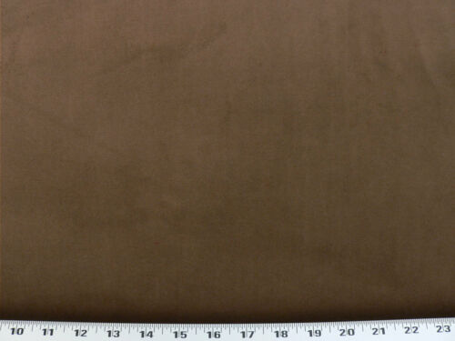 Drapery Upholstery Fabric Plush Cloth Backed Polyester Velvet Solid Pecan
