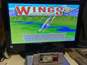 TESTED-WORKING-SUPER-NINTENDO-SNES-GAME-CARTRIDGE-WINGS-2-ACES-HIGH