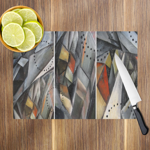 South African Flag Retro Glass Chopping Board Kitchen Worktop Protector