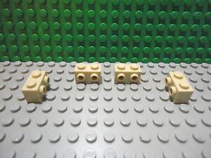 Lego 4 Black 1x4 brick block with 8 studs NEW