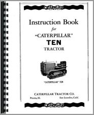Caterpillar CD4 Trackson Swing Crane Owners Operators Manual