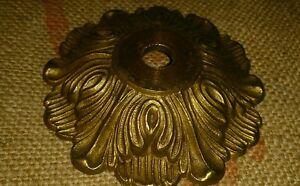 1 Rosace Plafonnier En Bronze Ou Laiton Massif Diamètre 8,8 Cm Lustre Lampe Acheter Maintenant