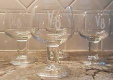 Set of 4 V-8 Vegetable Juice Stemmed Glass Bloody Mary Goblets Made in France