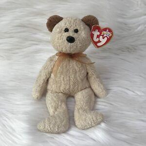 Ty Beanie Baby Huggy 2000 Millennium Terry Cloth Teddy Bear With Tag Errors