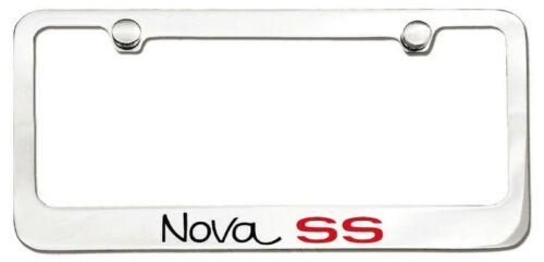 Chevrolet Nova SS 1966-1972 Logo Polished Chrome License Plate Frame Tag Holder