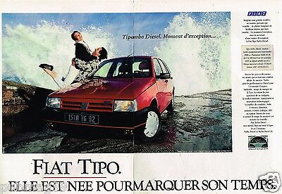 2 Pages Publicité Advertising 1990 Fiat Tipo