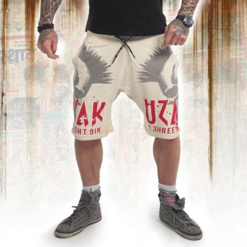 Neue Yakuza Herren Dead Punk Sweat Shorts Bone White