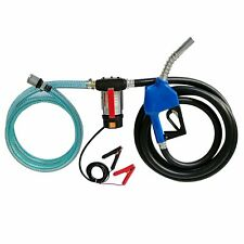 12v Dc 60lmin Electric Fuel Transfer Pump Diesel Kerosene Oil Withhose And Nozzle