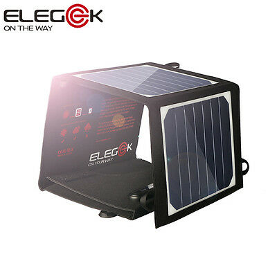 14W Foldable Portable Solar Panel Battery Charger One Port USB Power Bank Pack