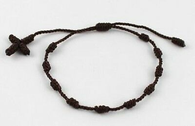 6 PCS Brown Knotted Rosary Bracelets