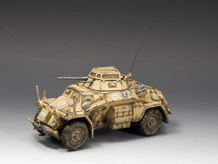 AK092 Sd.Kfz 222 Beväpnad bil av kung och land