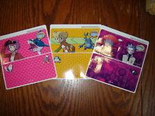 NEW - SET OF THREE OFFICIAL POKEMON Vinyl Skin Stickers for Nintendo DS - RARE