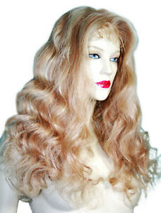 Remi-Remy-Full-Lace-Wig-Wigs-Indian-Human-Hair-Blonde-Mix-Long-Body-Wave-Wavy