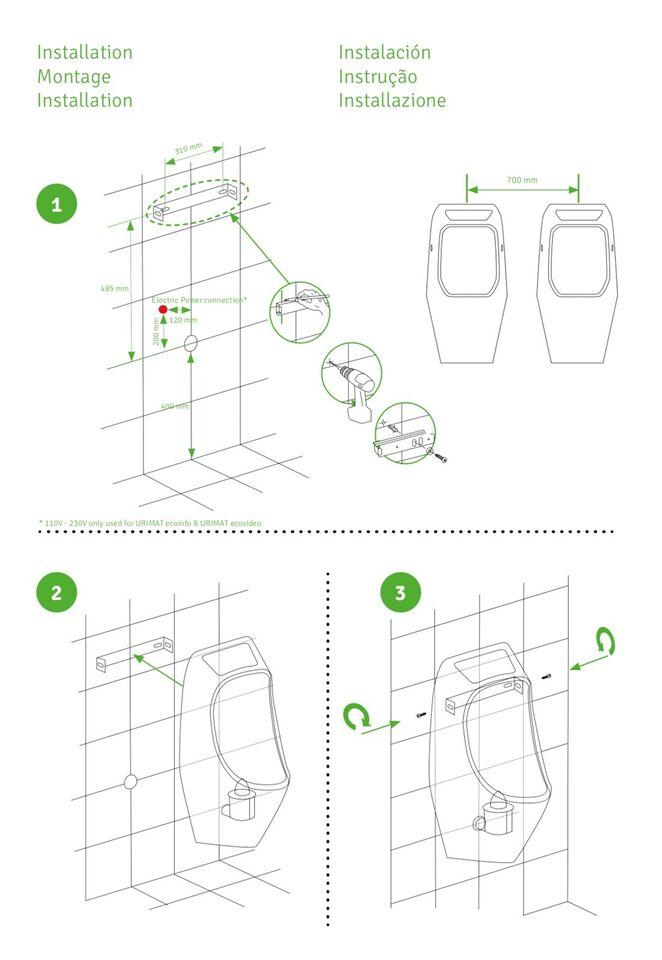 Pissoir, URIMAT vandfri urinal