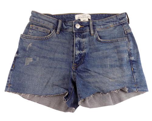 NUOVI Ex Chainstore H/&M Donna Metà Jeans in Denim a vita alta shorts hot pants