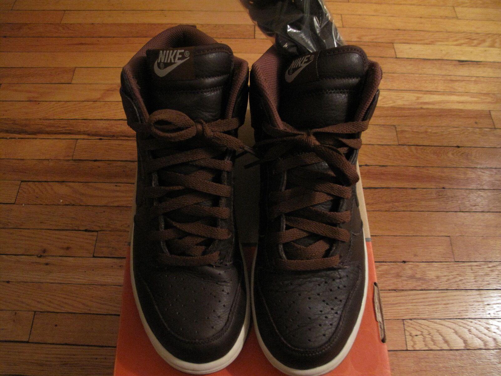Mens Nike Dunk High Premium QS Size 8.5, Baroque Brown/Birch