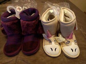 Lot-of-2-Pairs-Muk-Luks-Zoo-Babies-Booties-Size-12-GallyHo
