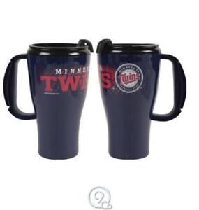 MLB-Baseball-Minnesota-Twins-16oz-Roadster-Tumbler-Travel-Mug-Coffee-Cup-Plastic