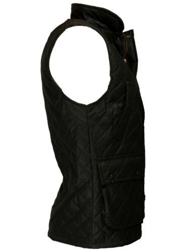 Mens Wax Diamond Quilted Bodywarmer Waistcoat Countrywear Gile Walker /& Hawkes