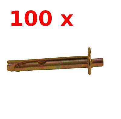 Metallschlagdübel 6 x 65 mm Deckendübel Deckenanker 100x Deckennagel 100 Stk