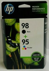 New-Genuine-Dual-HP-98-95-Black-amp-Tricolor-Ink-Cartridges-EXP-2020-BOX