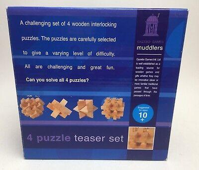 2019 Moda Gazebo Games Muddlers 4 Puzzle Teaser Set In Legno Puzzle-nuove Regalo Di Natale-mostra Il Titolo Originale Sii Amichevole In Uso