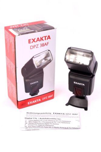 EXAKTA DPZ 38AF Blitzgerät Leitzahl 38 b ISO100 TTL Blitzlicht für Sony Minolta