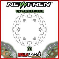 2-DF4103A COPPIA DISCHI FRENO ANTERIORE NEWFREN HONDA NS 400cc R 1985-1987 FISSO