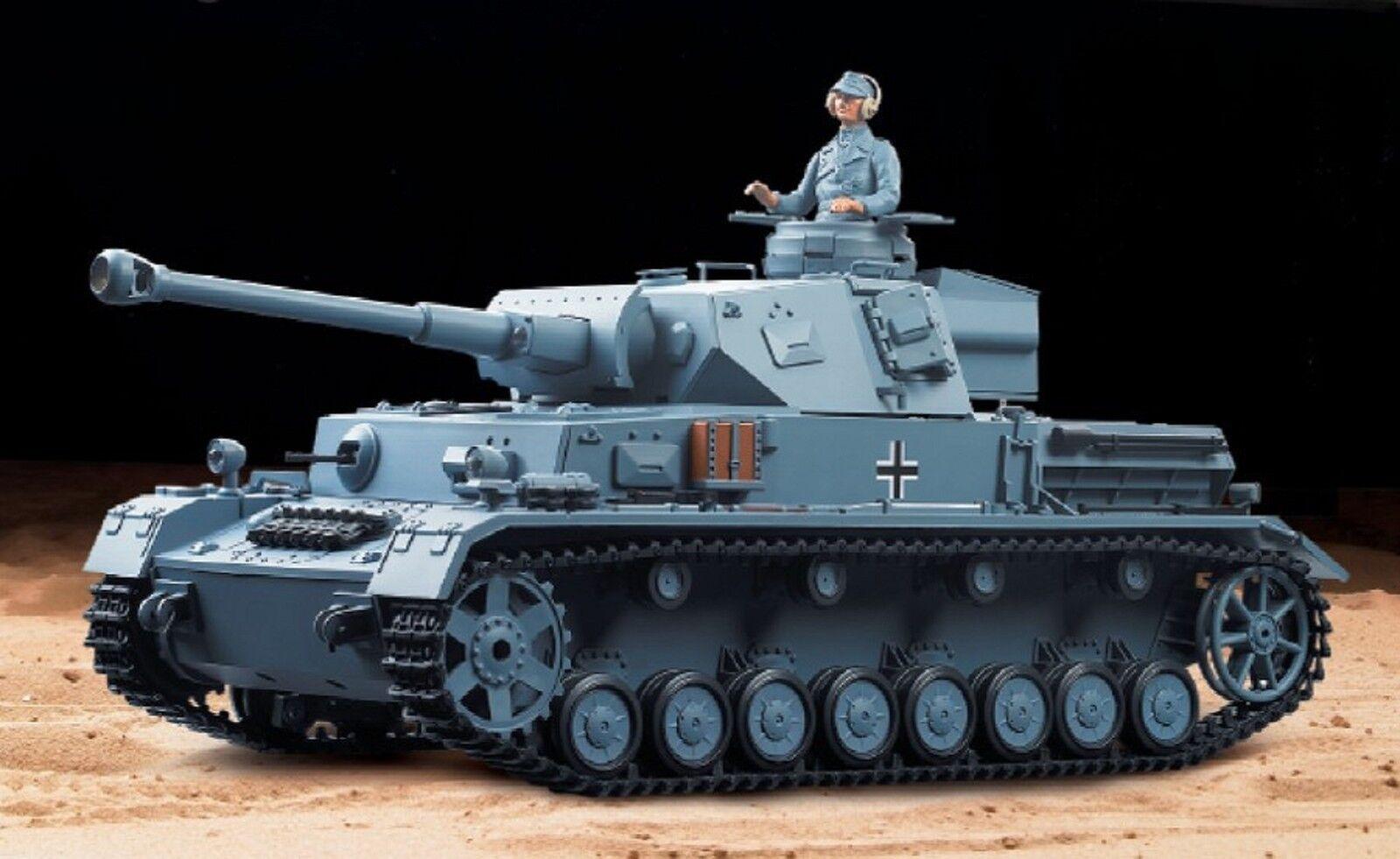 Heng Long RC Panzer carro lotta IV Esegui.f-2, 1:16, fumo, audio, ingranaggi in metallo