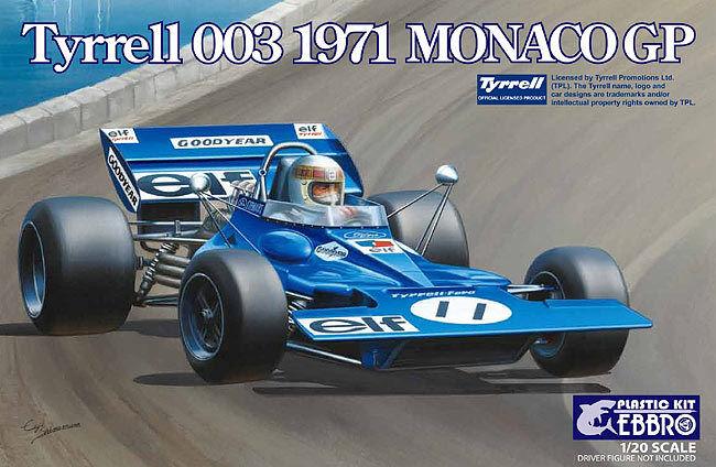 KIT EBBRO  1 20 AUTO DA COSTRUIRE IN PLASTICA TYRRELL 003 1971 MONACO GP  ART 007  prix raisonnable
